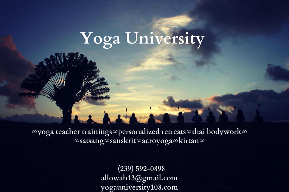 yoga university business card